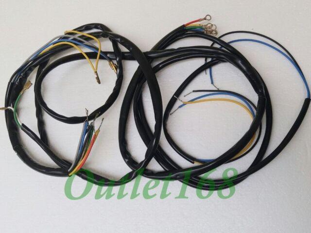vespa piaggio vbc 150 super sprint primavera 125 wire harness wiring loom 6v  piaggio wiring harness #12