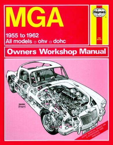 1955-1962 Manuale Officina 0475 Haynes MGA