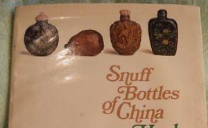 SA-007 Hugh M. Moss, Snuff Bottles of China, 1991 Illustrated, Stone, Glass Book