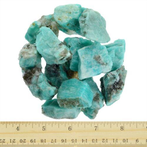 18 lb Amazonite Rough Stones Craft Rocks Reiki Wire Wrapping Tumbling