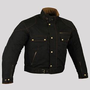 Homme-Moto-armure-de-CE-protecteur-de-moto-Veste-En-textile-De-Qualite-Noir