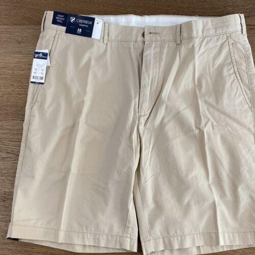 "Cremieux Khaki Shorts Mens Size 38 Flat Front Hampton 9"" NWT Light Weight Twill"