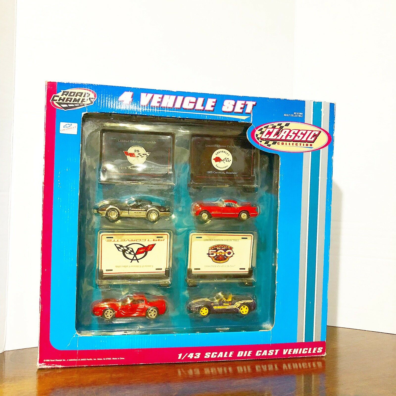 DIECAST DIECAST DIECAST 1 43 Road Champs  Classic Collection  4 Vehicle Set New In Box 479b52