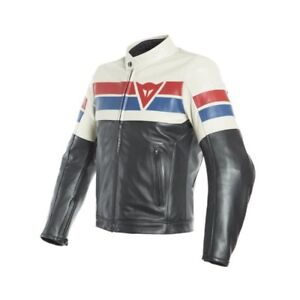 8 Custom Cafe Ice Track Red Moto Naked Pelle Racer Giacca Dainese ZqwOYqx