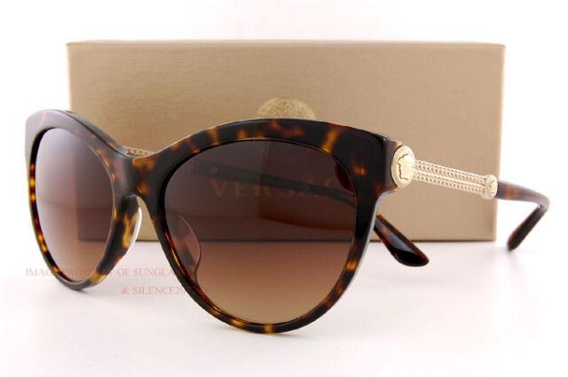 f13679d94472 Brand New VERSACE Sunglasses VE 4292 108 13 HAVANA GRADIENT BROWN Women