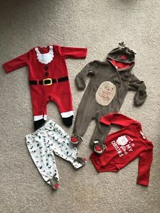 Christmas-Clothes-Bundle-Baby-Boy-Girl-Unisex-3-6-Months