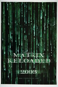 THE MATRIX RELOADED 27x40 Original DS NM Coated Movie ...