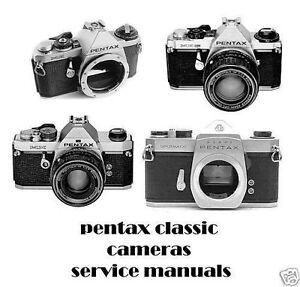 pentax classic camera service manual asahi me 23900 super 23901 mx rh ebay com Pentax K100 Pentax Me Super