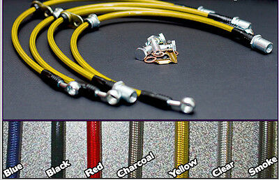 FRONT REAR Techna-Fit Stainless Steel Braided Brake Lines TOY-1090 fits Celica