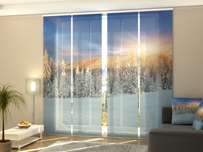 Fotogardinen Weihnachten, Winter Sonnenaufgang, Maßanfertigung   Geeignet für Farbe