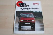 94993) VW Bus T4 Crashtest - Sonderdruck Gute Fahrt 04/1991