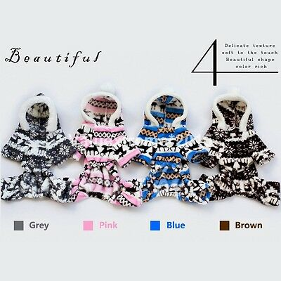 Pet Small Dog Cat Puppy Winter Warm Clothes Sweater Hoodie Coat Costume Apparel