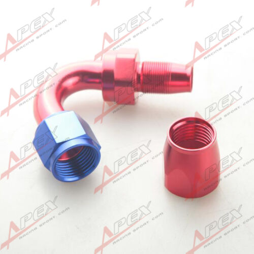 AN10 10AN AN-10 120 Degree Swivel Hose End Fitting Adaptor Aluminum Red//Blue