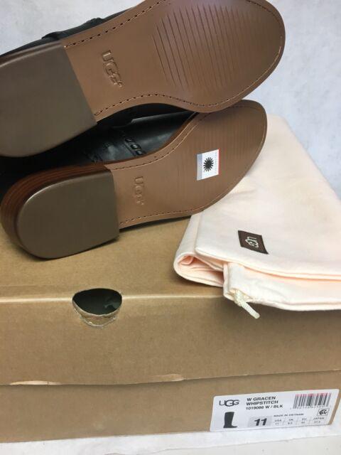 bb036f838d7 UGG Australia Gracen Leather High BOOTS 1019086 List 325 Black NewBx Sz 10
