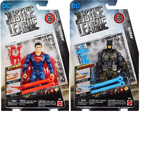 Set-of-2-DC-Comics-Justice-League-Batman-amp-Superman-Power-Slinger-Action-Figures