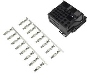 Quadlock-Stecker-16-Kontakte-Pin-Pins-Radio-Adapter-Audi-Seat-Skoda-VW-BMW-Ford
