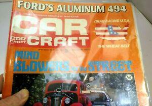 Car-Craft-Magazine-January-1970-Ford-039-s-Aluminum-494-Drag-Racing-USA