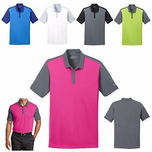 8f2e6432 men's nike bold contrast, dri fit wicking, polo shirt, golf xs s m l xl 2x  3x 4x