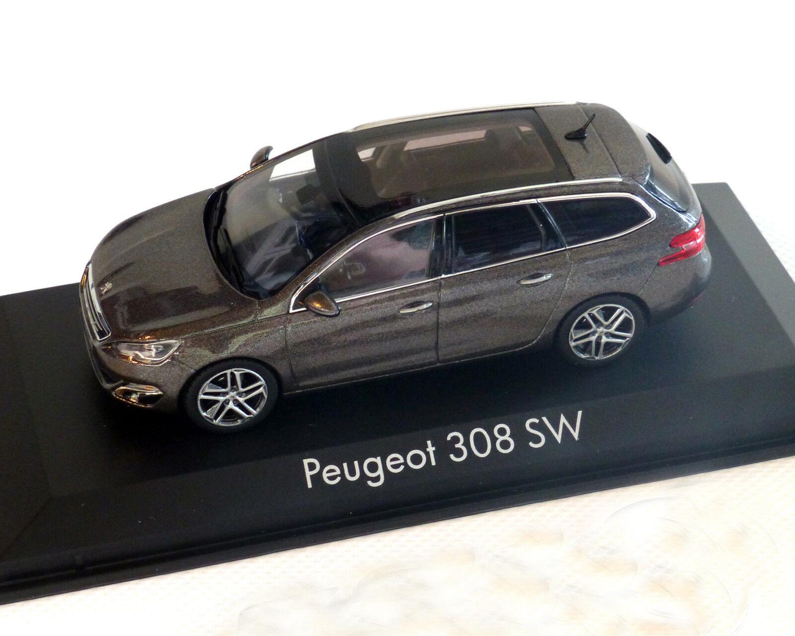 Peugeot 308 SW mokka-grey-metallic, 1 43 Norev