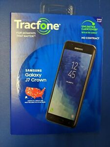 "Tracfone Samsung Galaxy J7 Crown 5.5"" 16GB Prepaid Smartphone Brand New"