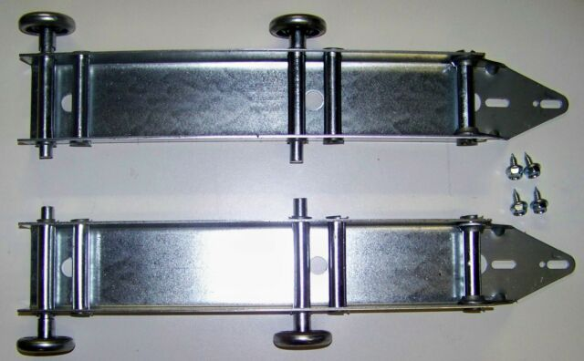 Garage Door Quick Turn Low Headroom Top Brackets Fixture 4 Nylon Rollers