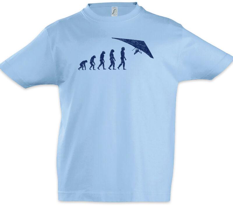 Hang Gliding Evolution Boys T-shirt Player Fun Human Charles Darwin Glider