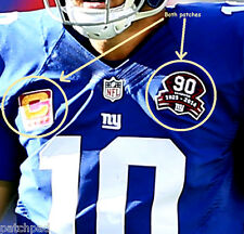 2016 NY GIANTS QB Eli Manning Captain's Gold 4-STAR C-Patch + 90th Anniversary