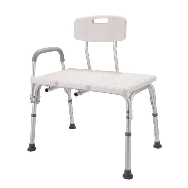 Shower Chair 10 Height Adjustable Bathtub Medical Shower Transfer Bench Bath