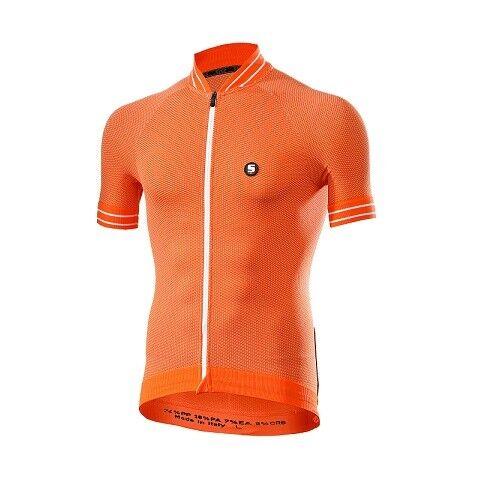 T-shirt Jersey T-Shirt Fahrrad Fahrrad Radsport SIXS Orange weiß Klima Klima Klima Jers 382ab6