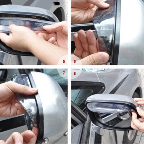 Universal Rain Deflector Blades Car Mirror Shade Back Eyebrow Cover Flaps F D G