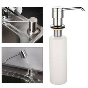 Details about 300ML Stainless Steel Soap Dispenser Kitchen Sink Soap Hand  Liquid Pump Bottle