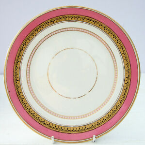 Vintage-Antique-Victorian-China-Pink-Gold-Tea-Plate