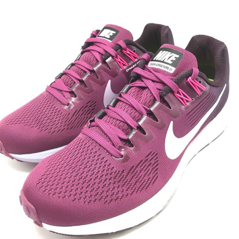 Nike Women's Air Zoom Structure 21 Tea Berry Ice purplec-Port Wine 904701-605