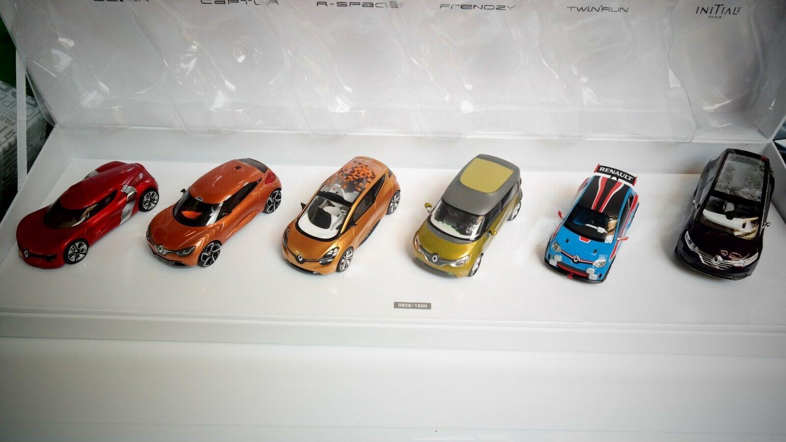 Coffret 6 concept cars Renault 1 43 éme Norev sous emballage scellé