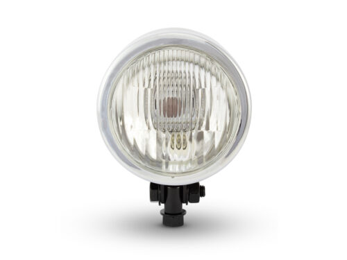 "4 1//2/"" Black /& Chrome Headlight 12V 55W for BMW Boxer Custom Project Cafe Racer"