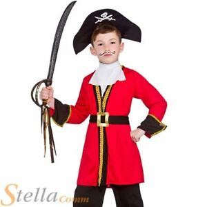 Image is loading Boys-Red-Pirate-Captain-Hook-Child-Fancy-Dress-  sc 1 st  eBay & Boys Red Pirate Captain Hook Child Fancy Dress Costume Kids Book ...