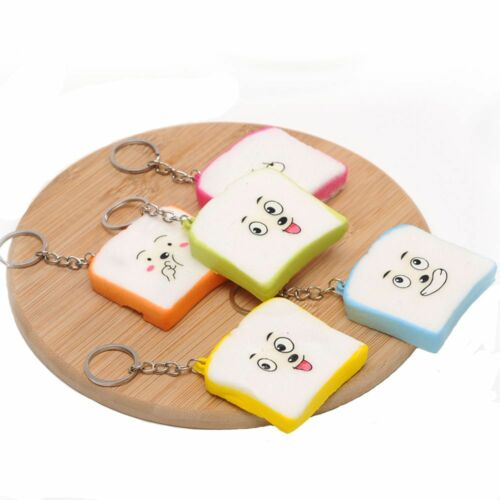 Creative Simulation Donut Toast Key Ring Banana Mini Phone Bag Pendant Keychain~