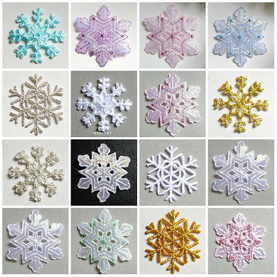 SNOWFLAKE  IRON ON APPLIQUE select color and size