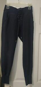 Kyodan-Womens-Navy-Blue-Size-Small-Sweatpants-Great-Conditon