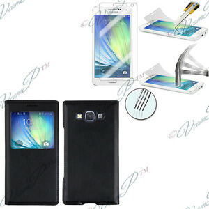 Etui-Housse-View-Case-Samsung-Galaxy-A5-A5-Duos-SM-A500F-1-Film-Verre-Trempe