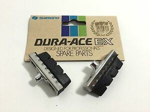 Shimano-Dura-Ace-EX-brake-pads-and-holders-1-set-pair-NOS-vintage