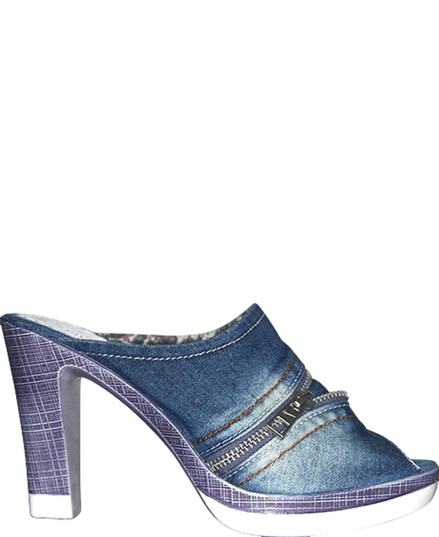 Pantolette, (10 Jeans Pantolette mit Absatz (10 Pantolette, cm) High-Denim/Zipper/Offen/ MM13101 4d8eed