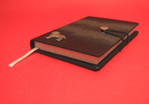 Border Terrier Motif A6 Black Notebook Journal Pet Dog Xmas Border Terrier Gift