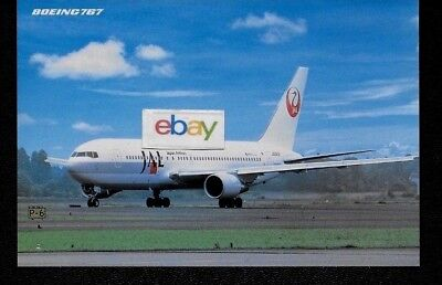 JAPAN AIRLINES BOEING 767-200 AIRLINE ISSUED 1990'S LIVERY POSTCARD | eBay