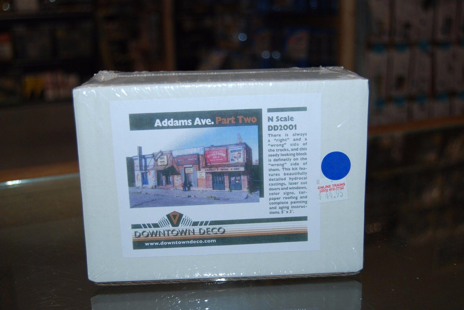 N Scale Downtown Deco DD2001  Addams Ave. Part Two  NIB