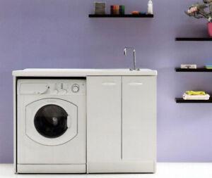 Mobile pilozza lavatoio lavanderia lavapanni lavatrice lavabo lady cm 124 x 60 s ebay - Mobile lavabo lavatrice ...
