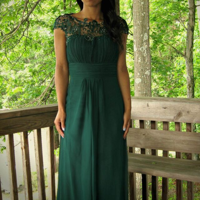 Ever-Pretty Dark Green Long Chiffon Evening Prom Party Bridesmaid Dress 09993