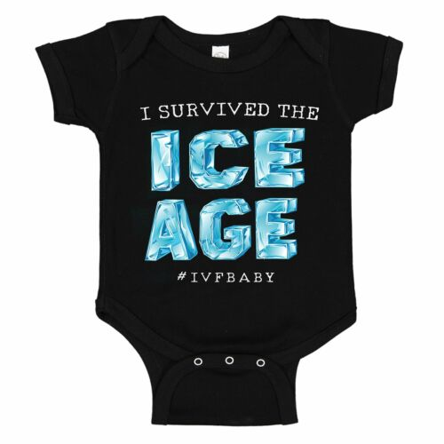I Survived The ICE AGE IVF Infertility One-piece Infant Baby Bodysuit Romper Tee
