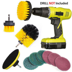 10Pcs-Tile-Grout-Power-Scrubber-Cleaning-Drill-Brush-Set-Combo-Scrub-Tub-Cleaner