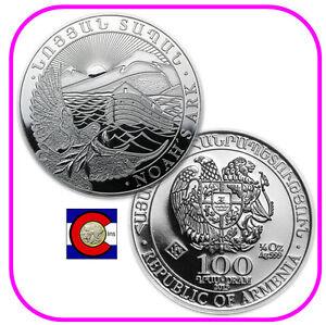 2013-Armenia-1-4-oz-Silver-100-Drams-Noah-s-Ark-Coin